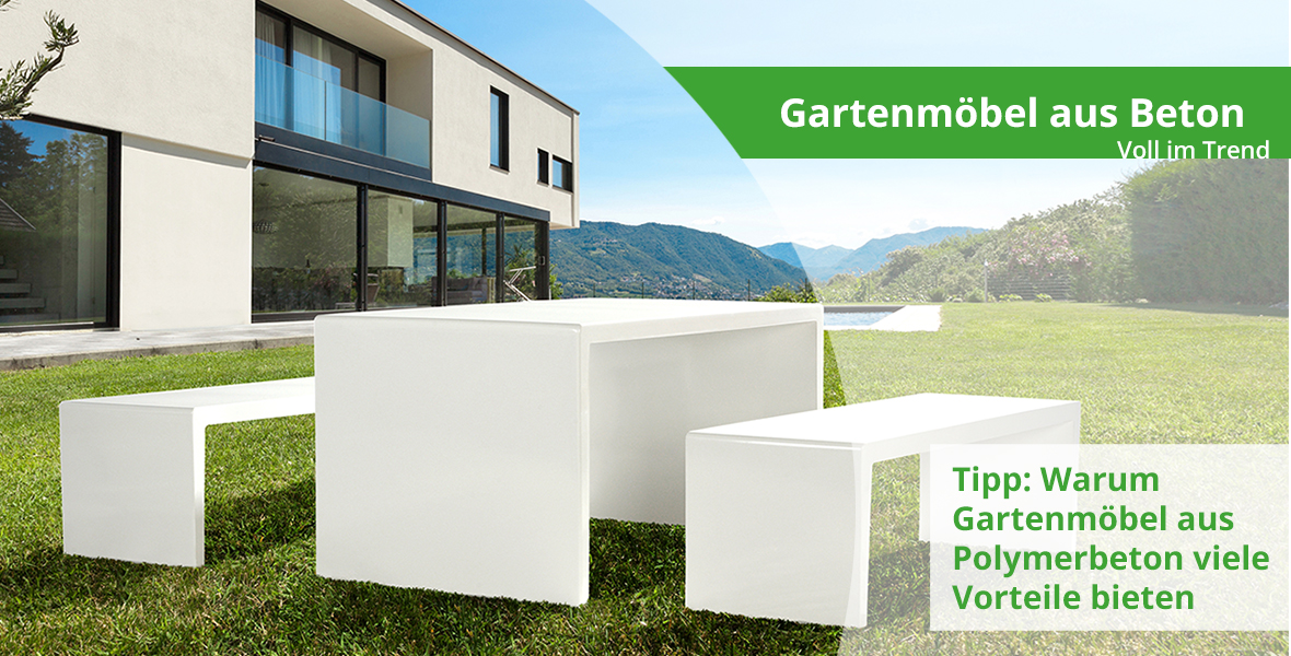 Beton Gartenmöbel - der Trend schlechthin