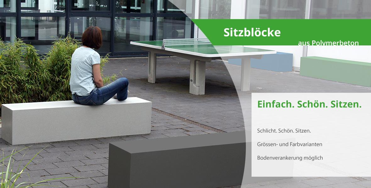 Fabelhaft Maillith Outdoor Sitzbank / Sitzblöcke aus Polymer Beton für #QB_65