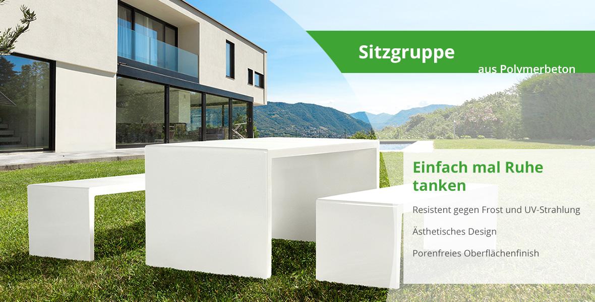 outdoor sitzgruppe von maillith beton gartenm bel aus polymerbeton. Black Bedroom Furniture Sets. Home Design Ideas